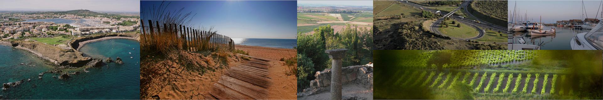 vignes plage vue aérienne biterroises